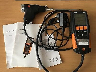 Testo 310 combustion Flue Gas Analyser Kit heating boiler No calibration