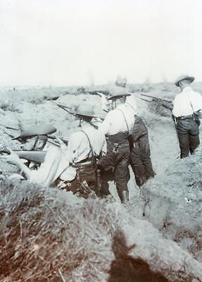 The Royal Scots Regiment Troops Trench Barry Camp 1901 Photograph Military Army