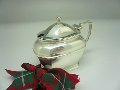 Silver Mustard Pot, Sterling, Antique, English, ART DECO, Hallmarked 1929