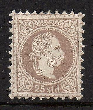 AUSTRIA,1867 PO IN TURKEY, 25 Sld., MINT HINGED, (R32)