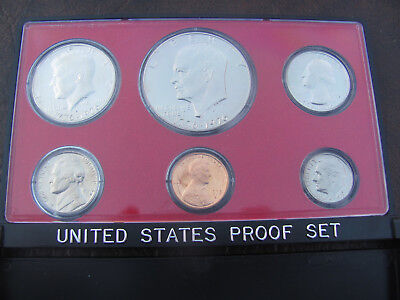 """1975 US Mint Clad Proof coin set; Uncirculated; includes the """"Ike"""" dollar, LQQK!"""