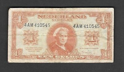 Nederlands 1 Gulden 1945 Circulated Banknote