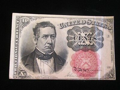 USA Fractional Currency 10 Cents 1849 VF+ You Grade It Its a Beauty No Reserve
