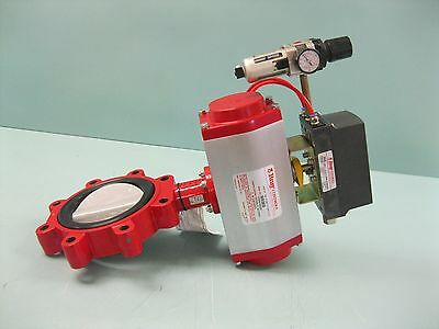 """6"""" 150# Bray 31 Series Lug Style Butterfly Valve 6A Positioner NEW P4 (2230)"""