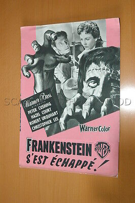 Peter Cushing Hazel Court The Curse Of Frankenstein 1957 Rare Original Synopsis