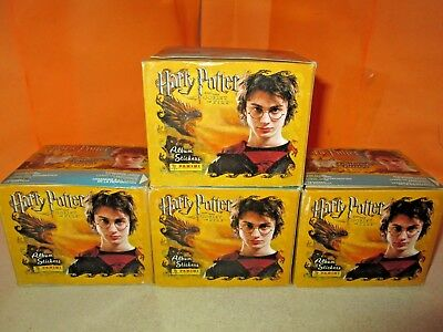 2005 Panini Harry Potter & The Goblet of Fire Lot of 4 SEALED Sticker Boxes