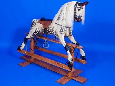 Stunning Wooden Rocking Horse Can Store For Christmas - Christmas Present