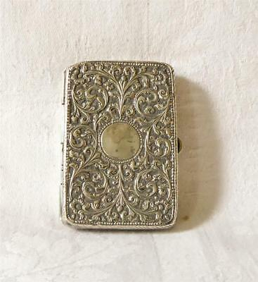 ANTIQUE 19TH C INDIAN KUTCH FINELY CHASED SILVER CIGARETTE CASE 86g
