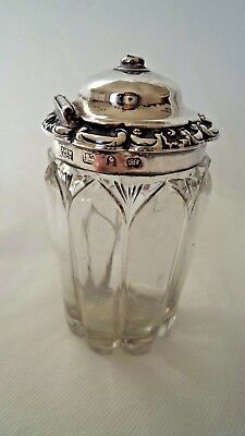 Georgian 1829 Sterling / Solid Silver Topped Mustard / Condiment Pot