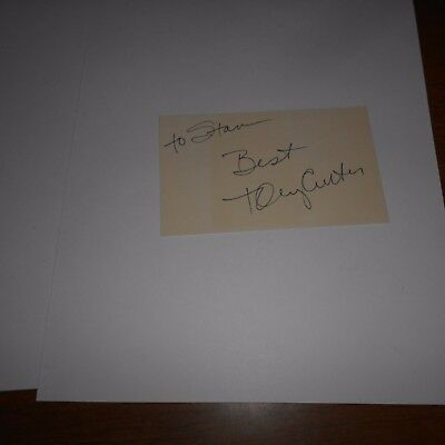 Tony Curtis  was an American actor  Hand Signed Index Card