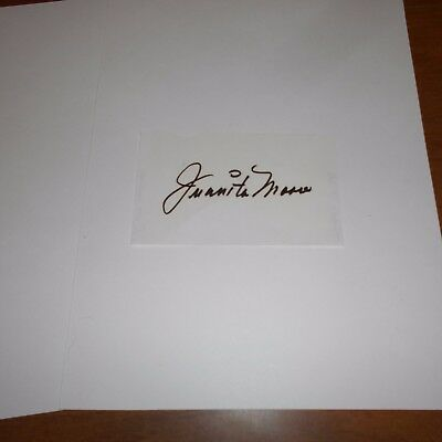 Juanita Moore  was an American actress  Hand Signed Page