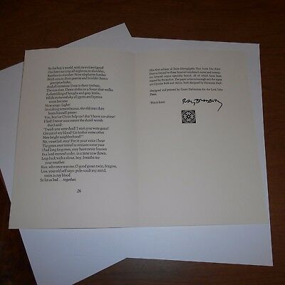 Ray Bradbury was an American author & screenwriter Hand Signed Book Page w/Poems