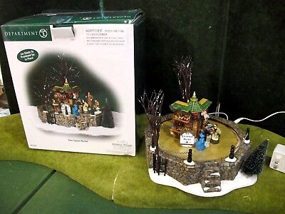 Department 56 TOWN SQUARE MARKET #58590 Dickens Village 2004 Animated And Rare