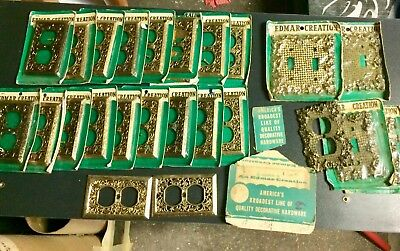 Antique, Solid Brass Outlet & Light Switch Covers. New, Vintage Edmar Creation