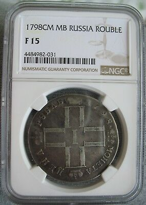 1798 CM MB Russia Rouble NGC F-15