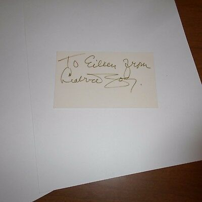 Leatrice Joy was an American actress Hand Signed Index Card