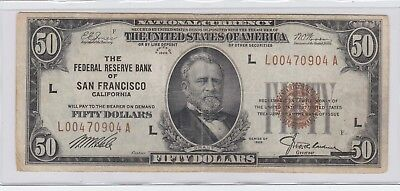 $50 Frbn 1929 San Francisco Federal Reserve Bank Note