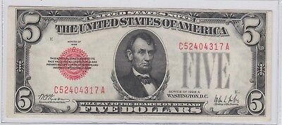 $5 Red Seal Legal Tender 1928-A