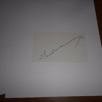 Fred MacMurray  was an American actor  Hand Signed Index Card
