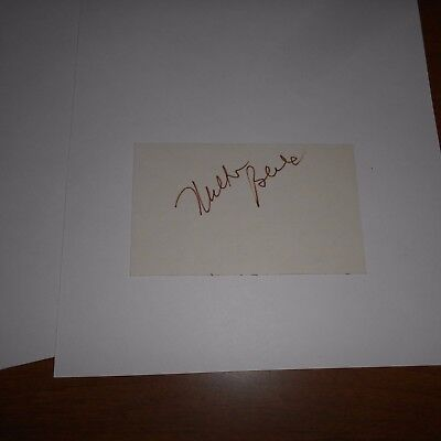 Milton Berle was an American actor  Hand Signed Index Card