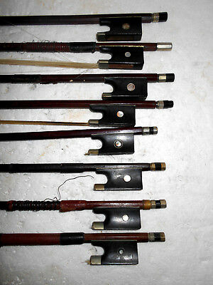 "Vintage Lot of 14 Old Antique ""Bausch"" Full Size Violin Bows - NR"