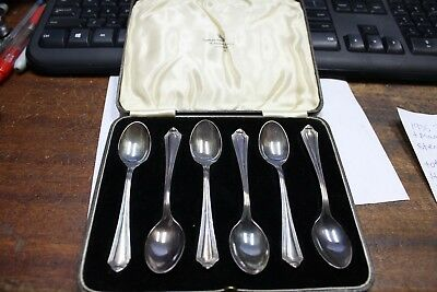 1935 Jubilee George V & Mary Set of 6 Sterling Spoons - 58 grams