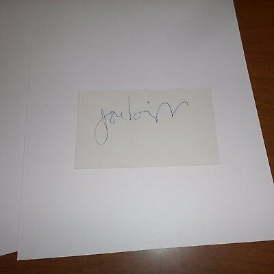 Jon Voight  is an American actor  Hand Signed Index Card