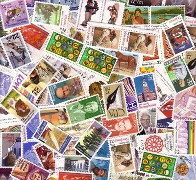 100 MIXED MULTIPLES AND SINGLES OF 22c POSTAGE STAMPS FV $22.00 FACE