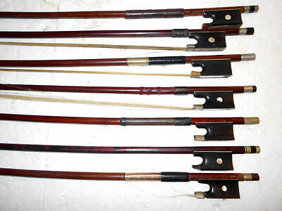 Large Lot of 15 Old Vintage Antique Stamped Violin Bows - No Reserve