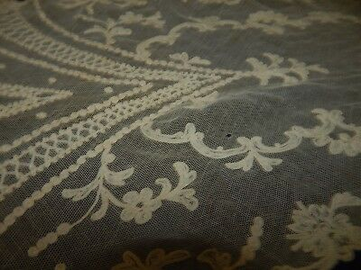 antique lace runner tambour lace wedding party table victorian  cotton floral