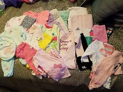Baby Girl Clothes clothes 3 and 3-6 months, Carter's, Little Me, great cond