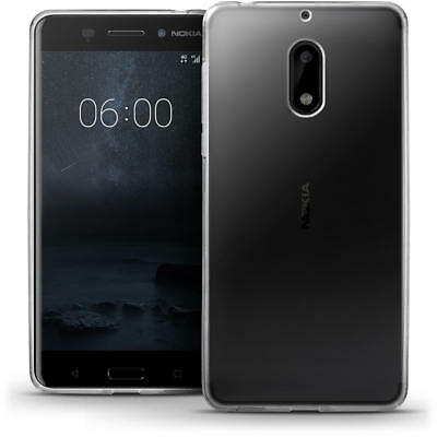 Slim Gel Clear Case & Tempered Glass Screen Protector Cover For Nokia 3, 5, 6, 8