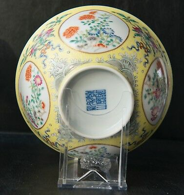 Set of two  gorgeous Chinese porcelain daoguang bowls,  marked, imperial yellow.