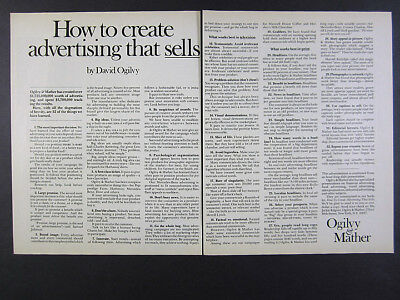 1975 Ogilvy & Mather How to Create Advertising that Sells vintage print Ad
