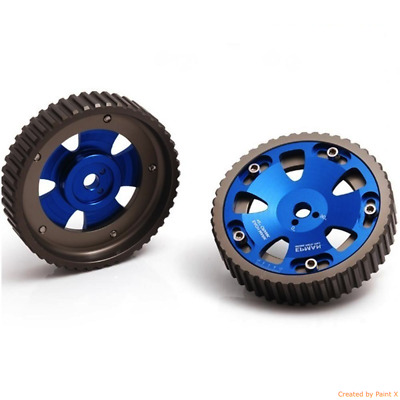 RACING ADJUSTABLE BLUE CAM GEAR GEARS PULLEY PAIR fits BMW E36 DRIFTING RALLY