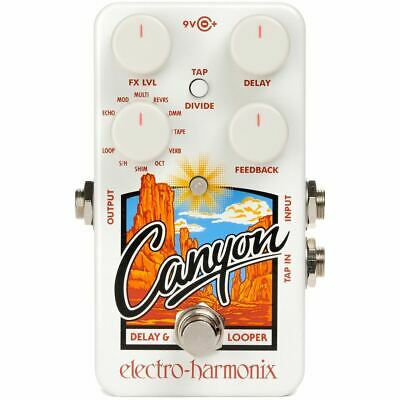 New Electro-Harmonix EHX Canyon Delay & Looper Guitar Effects Pedal + Ships Free