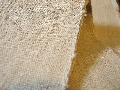 2.5 Yards  HandWoven Old Antique Linen Flax Homespun Vintage Fabric Grain Sack