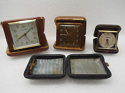 Lot Of Vintage Non Working Travel Alarm Clocks For Parts, Spares Or Repair