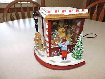 Roman Inc Musical Led Gingerbread Lane Christmas Santa