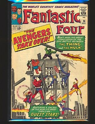 Fantastic Four # 26 Classic Avengers & Hulk cover G/VG Cond. slight water damage