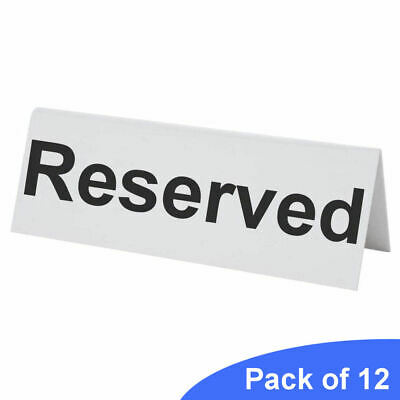 12 Flexible Plastic Reserved Table Sign - BarBits Tabletop Restaurant Cafe Bar