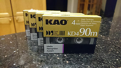 KAO KD490m Data Cartridge Tape 4mm  - 4 pieces Unopened