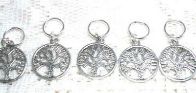 Stitch markers with tree of life charms