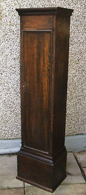 Granddaughter Long Clock Case - Solid Oak with Front Door and Interior Shelving