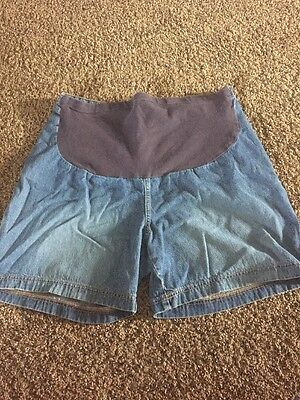 Baby and Me Size Large Maternity Jean Shorts