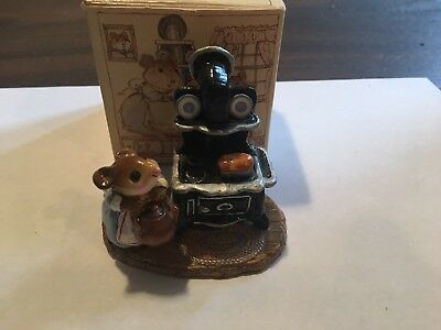 Wee Forest Folk Mouse with Old Fashioned Oven, Tea  Mint Condition with Box