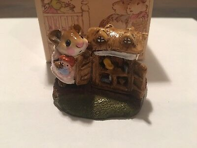 "1983 WEE FOREST FOLK"" MOUSEY'S DOLL HOUSE,  Good Condition with Box"