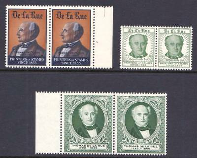 GREAT BRITAIN - THOMAS DE LA RUE -  POSTER STAMPS/LABELS - IN PAIRS x 3  MNH