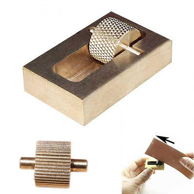 Leather Craft Making Oil Painting Box + 2 Rollers Brass Hand Making-Sewing Tools