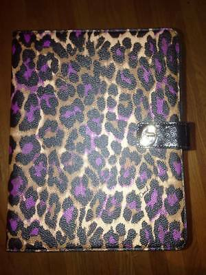 Coach Ocelot Leopard Leather iPad/Tablet/eReader Case Holder